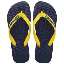Havaianas Brasil Logo Marine Yellow