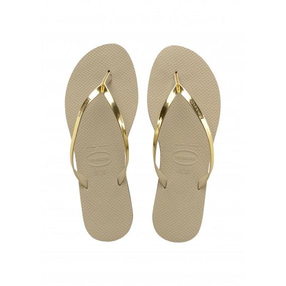 Havaianas You Metallic Sand Grey Light Golden